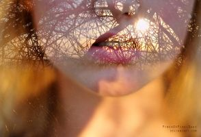 Double Exposure Self Portrait by PinchOfPixelDust