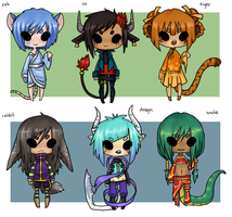 Chinese Zodiac Set 1 {closed!} by alphakiwi