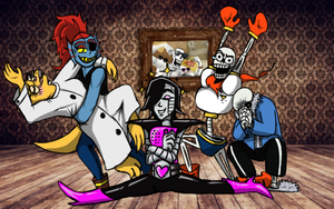 Undertale Draw the Squad Meme Splits by KarmaBanshee