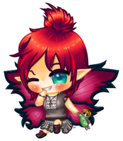 Thistle the Punk Fairy Chibi Commission by Kattling
