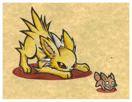 Jolteon:Where are you going? by NecroRiolu