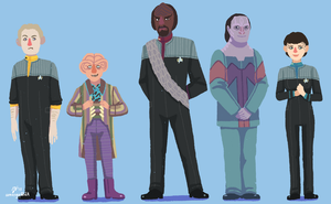 DS9 doodles 2 by sumenya