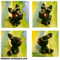 Chibi pm CM: Umbreon by Swadloon