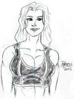 Daily Sketch: Sarah Jessup (with long hair) by fmvra1s