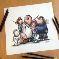 Creepy Family Guy drawing by AtomiccircuS