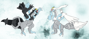 Black and White Kyurem by Malla123