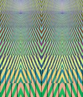 No Bridget Riley Sackler Crossing Zig Zag Wanderer by aegiandyad
