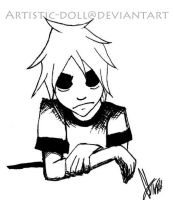2D Gorillaz Black and White by Artistic-Doll