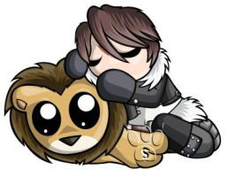 Squall Leonhart Chibi by RedPawDesigns