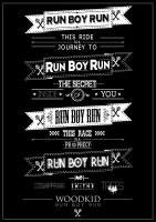 Run Boy Run Typography Poster by R0mainT