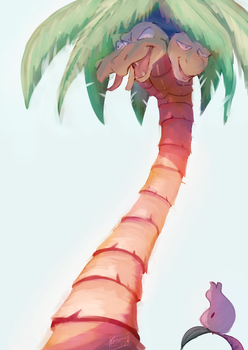 Exeggutor doens't look like a Dragon Type by Amber-Groves