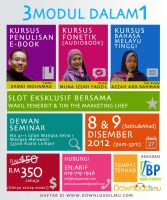 Poster Kursus EBook by syaheerah