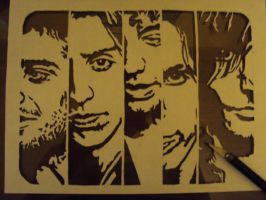 The Strokes stencil by fear-0f-james
