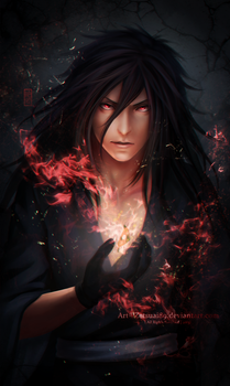 MADARA _flame by Zetsuai89