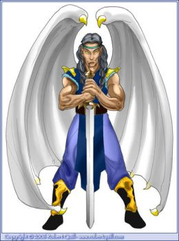 Angel Swordsman by robertquill