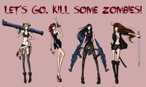 LET'S GO, KILL SOME ZOMBIES! by WeleScarlett