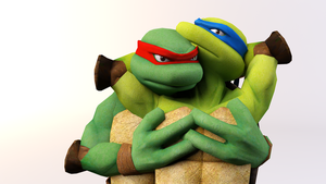 Leo x Raph by SilverMoonCrystal