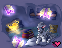 Living in a cave Commission by ladypixelheart