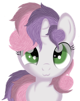 Sweetie Belle (Headshot) by Law44444