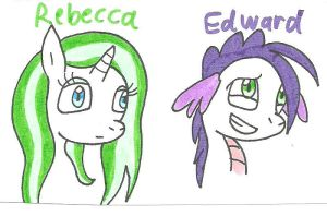 heads of Rebecca and Edward by cmara