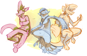 Zeb, Cheltna and Monash - Done by Hootaloo by Hudeni
