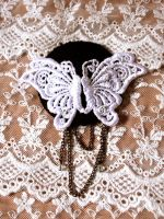 butterfly headpiece by yinco