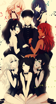 .: CdR : 7 beauties and the lucky idiot :. by melloskitten