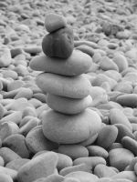 Pebble tower (B/W) by JDS-photo