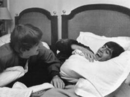 George and Ringo in bed by ximrealynotokayx