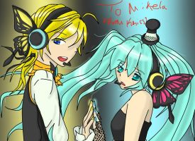 Len and Miku - Magnet by gothicjapan1
