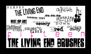 The Living End Lyric Brushes by englisharmy