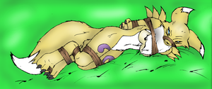 Renamon Kidnapped colored by Snkbyt