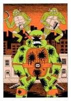TURTLES FIGHTERS #2 by Teagle