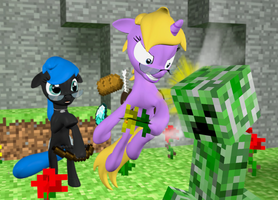 Leave us alone, Creeper!  (Gmod/Pony version) by Neros1990