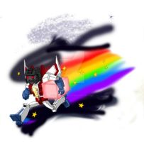 NYAN-STARSCREAM_Doooooodle_xD by Flive-aka-Nailan