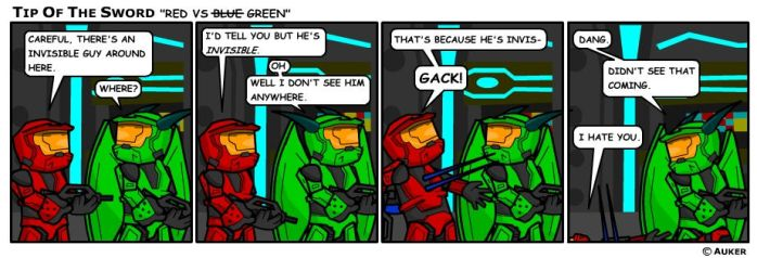 Red vs Blue, No, Green by tipofthesword
