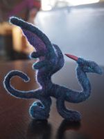 Needle Felted Purple Dragon by Projectsubvert