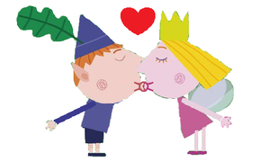 Ben and Holly Kiss 2 by dylanman10