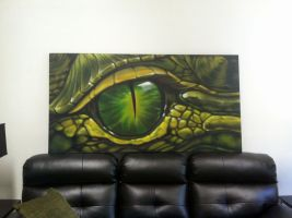 Recent commission, Gator Eye by LuxNova