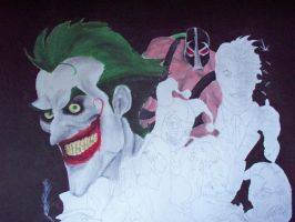 BATMAN AND VILLAINS PROJECT WIP3 by billywallwork525