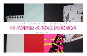 Stock Pack 02: Papers by PaperJunk