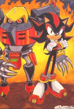 Shadow+E123 Omega by Sky-The-Echidna