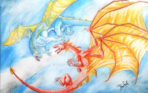 Dragon Fight by Rachet777
