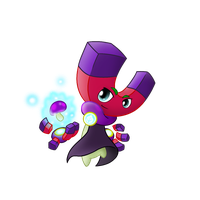 PvZ Fanmade Hero: Magnetron by JackieWolly