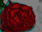 Rose in the rain by Megamangeek