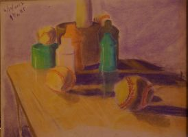 Pastel Still Life by Flame-Shadow