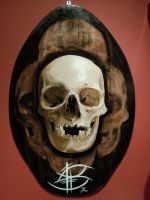 skull on wakeboard by Redbaxter