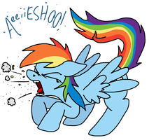 Rainbow Dash! Cover Your Mouth! by PSFForum