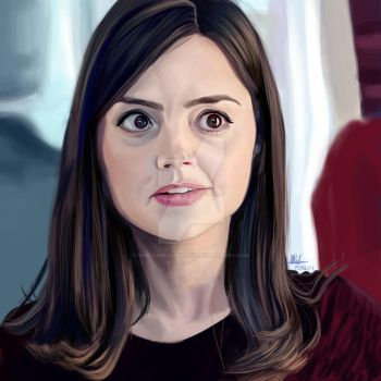 Clara Oswald / Krita Painting by theclumsyandshy
