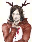 Norman Reedus - Christmas - rudolph reno by zelldinchit